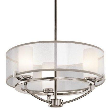 Astoria  Lampa sufitowa – Styl modern classic – kolor srebrny, transparentny