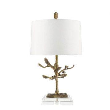 Audubon Lampa nowoczesna – Styl nowoczesny – kolor beżowy, biały, złoty