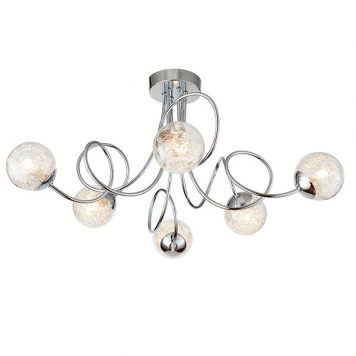 Auria Lampa sufitowa – szklane – kolor srebrny, transparentny