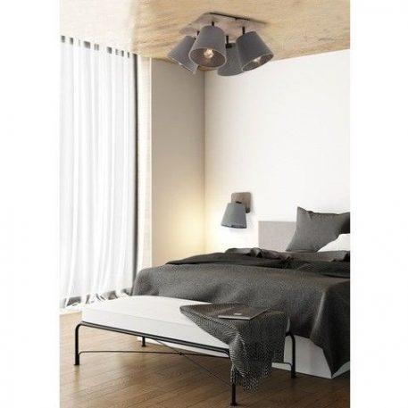 Awinion  Lampa sufitowa – Z abażurem – kolor brązowy, Szary