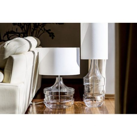 Baden Baden Lampa stołowa – Z abażurem – kolor biały, transparentny, złoty