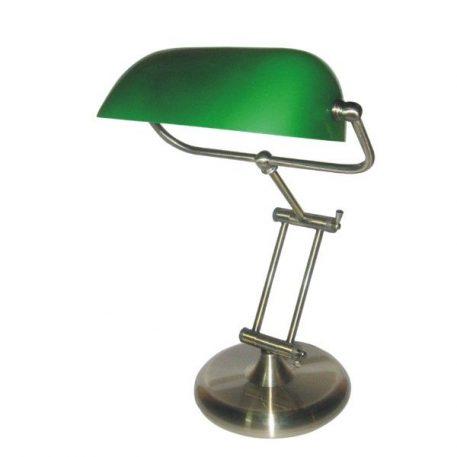 Bank Lampa stołowa – klasyczny – kolor srebrny, Zielony