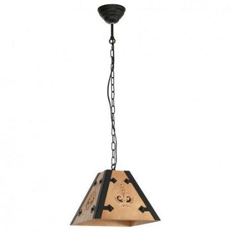 Bara  Lampa wisząca – Drewniane – kolor brązowy, Czarny