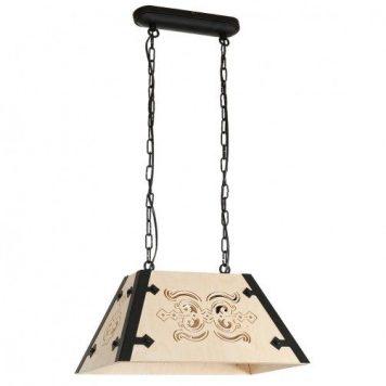 Bara  Lampa wisząca – klasyczny – kolor brązowy, Czarny