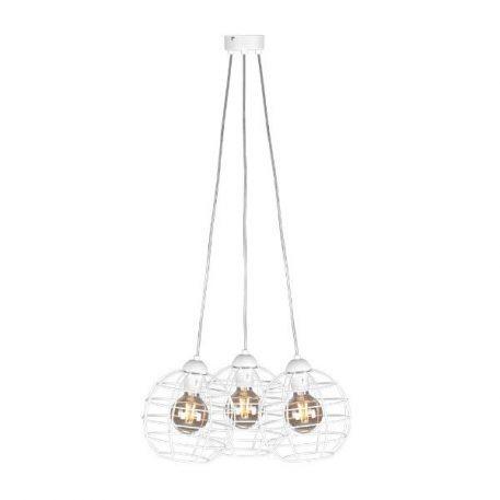 Basket Lampa wisząca – Styl skandynawski – kolor biały