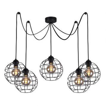 Basket  Żyrandol – industrialny – kolor Czarny