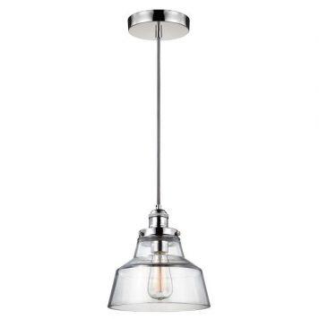 Baskin Lampa wisząca – industrialny – kolor srebrny, transparentny
