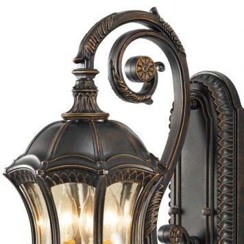 Baton Rouge Lampa zewnętrzna – szklane – kolor brązowy