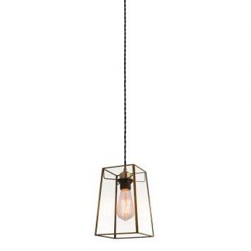 Beaumont Lampa wisząca – szklane – kolor mosiądz, transparentny