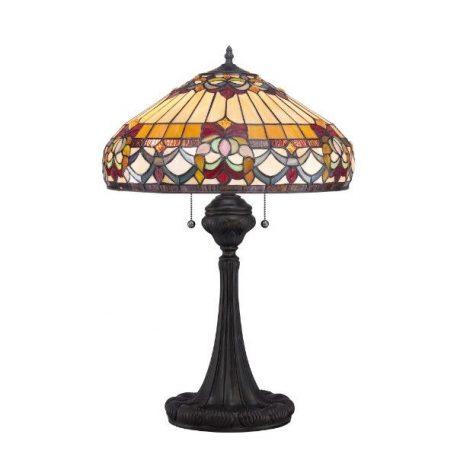Belle Fleur Lampa klasyczna – Witrażowe – kolor brązowy, pomarańczowy