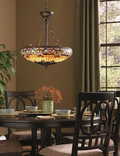 Belle Fleur Lampa wisząca – klasyczny – kolor brązowy, pomarańczowy