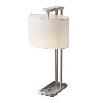 Belmont Lampa nowoczesna – Styl modern classic – kolor biały, srebrny