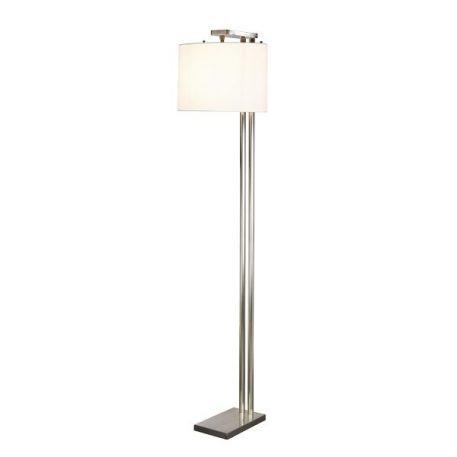 Belmont Lampa podłogowa – Styl modern classic – kolor biały, srebrny