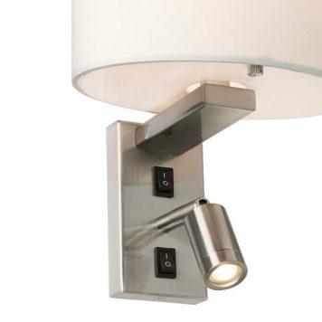 Belmont Reflektor – Styl modern classic – kolor biały, srebrny