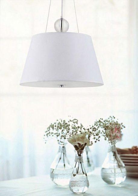 Bergamo  Lampa wisząca – Z abażurem – kolor biały