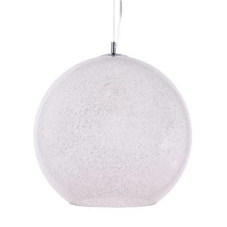 Bero Lampa wisząca – Styl nowoczesny – kolor biały, srebrny, transparentny