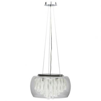 Biagio Lampa wisząca – kryształowe – kolor srebrny, transparentny