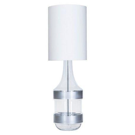 Biaritz  Lampa nowoczesna – Z abażurem – kolor biały, srebrny, transparentny