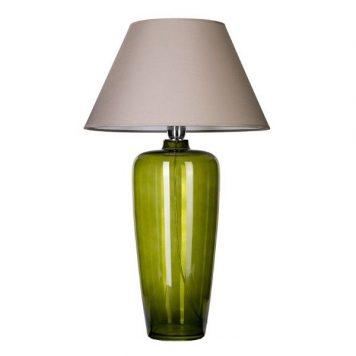 Bilbao  Lampa stołowa – Z abażurem – kolor beżowy, Szary, Zielony