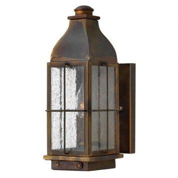 Bingham  Lampa zewnętrzna – klasyczny – kolor brązowy, transparentny