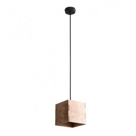 Bit  Lampa wisząca – Drewniane – kolor brązowy