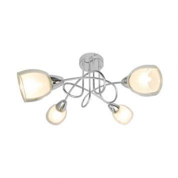 Blanco Lampa sufitowa – Styl nowoczesny – kolor srebrny, transparentny
