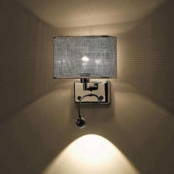 Blink  Lampa glamour – Do czytania – kolor srebrny