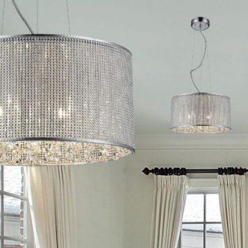 Blink Lampa wisząca – Styl glamour – kolor srebrny