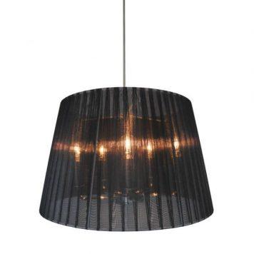 Blois Lampa wisząca – Styl modern classic – kolor srebrny, Czarny