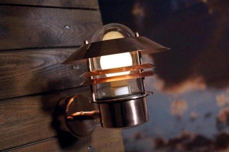 Blokhus Lampa zewnętrzna – Styl nowoczesny – kolor miedź