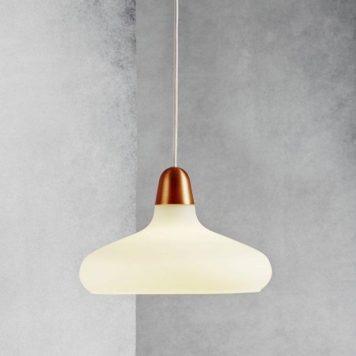 Bloom 29 Lampa wisząca – szklane – kolor biały, miedź