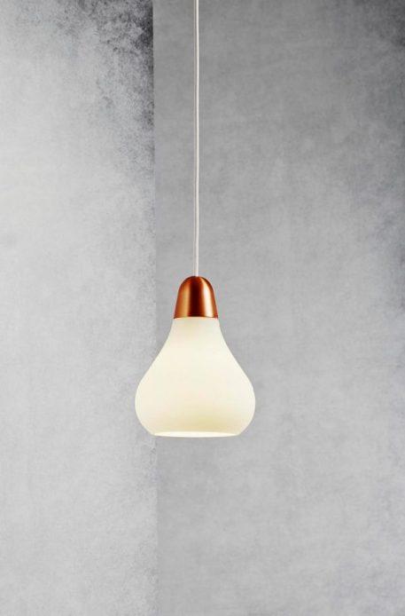Bloom Lampa wisząca – Styl nowoczesny – kolor biały, miedź