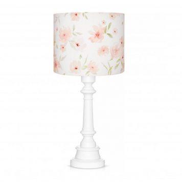 Blossom  Lampa stołowa – Z abażurem – kolor biały, różowy