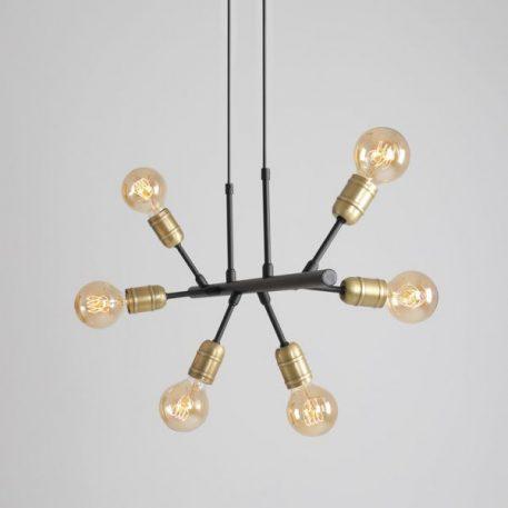 Bolzano  Lampa wisząca – industrialny – kolor złoty, Czarny