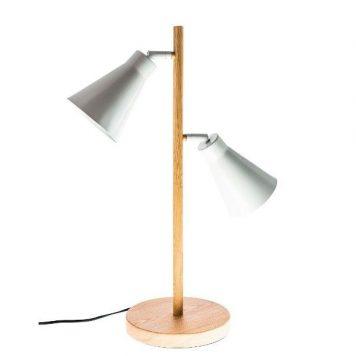 Bourne  Lampa skandynawska – Biurkowe – kolor biały, brązowy