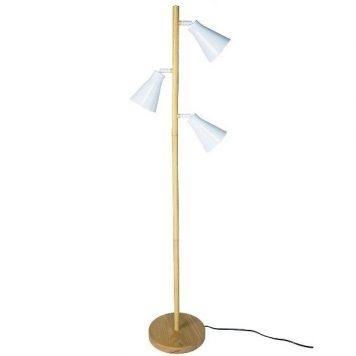 Bourne  Lampa skandynawska – Styl skandynawski – kolor biały, brązowy