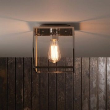 Box  Lampa sufitowa – industrialny – kolor srebrny, transparentny
