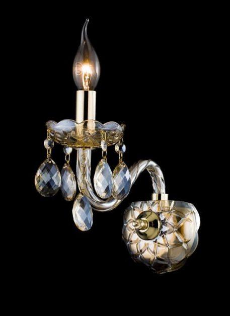 Brandy Lampa klasyczna – szklane – kolor transparentny, złoty