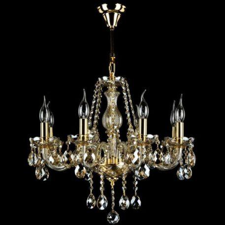Brandy Żyrandol – klasyczny – kolor transparentny, złoty