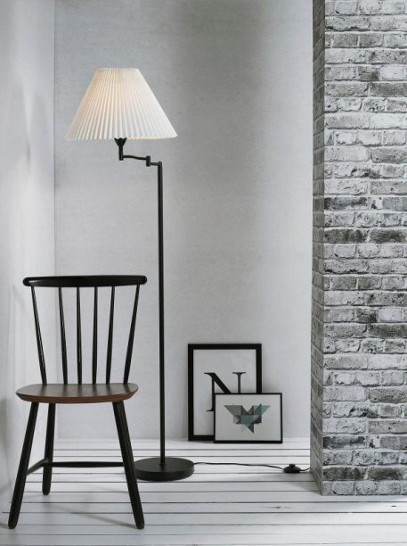 Break Lampa podłogowa – Z abażurem – kolor biały, Czarny