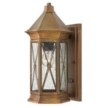 Brighton  Lampa zewnętrzna – klasyczny – kolor brązowy, transparentny