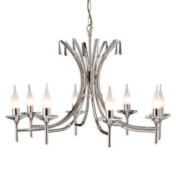 Brightwell Żyrandol – klasyczny – kolor srebrny