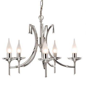 Brightwell Żyrandol – Świecznikowe – kolor srebrny