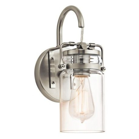 Brinley Lampa industrialna – industrialny – kolor srebrny, transparentny