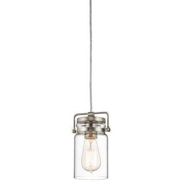 Brinley Lampa wisząca – industrialny – kolor srebrny, transparentny