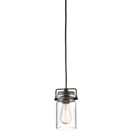 Brinley Lampa wisząca – szklane – kolor brązowy, transparentny