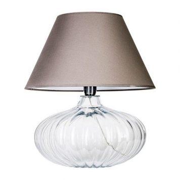 Brno  Lampa modern classic – Z abażurem – kolor beżowy, transparentny, Szary