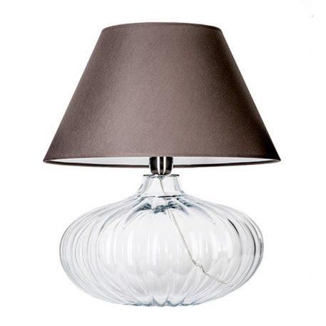 Brno  Lampa stołowa – szklane – kolor transparentny, Szary