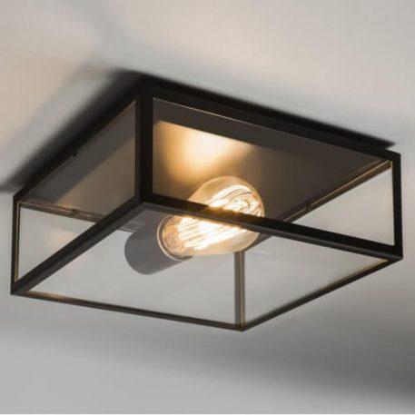 Bronte Lampa sufitowa – Plafony – kolor transparentny, Czarny