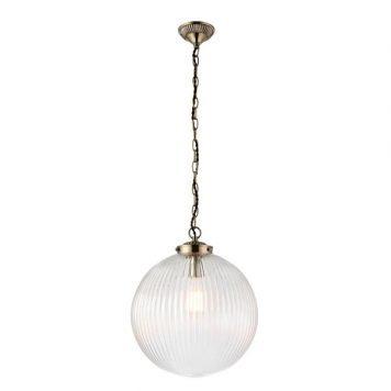 Brydon Lampa wisząca – klasyczny – kolor mosiądz, transparentny, złoty
